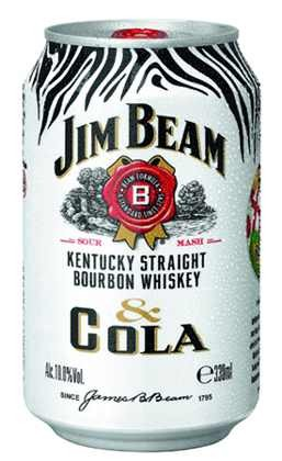 Jim Beam Cola 0,33l dobozos